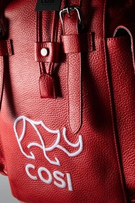 Accessories Red Leather Bag